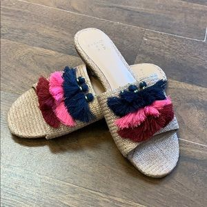 Anthropologie tassel sandals. Size 6